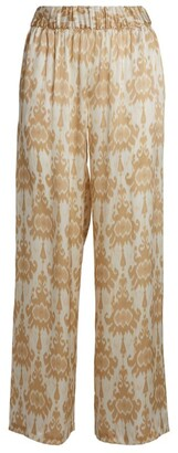 MARIE FRANCE VAN DAMME Silk Embroidered Trousers
