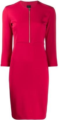 Pinko Half-Zip Midi Dress