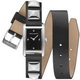 Rebecca Minkoff Women's Wrap Leather Strap Watch, 19Mm X 30Mm
