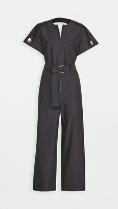 3.1 Phillip Lim Short Sleeve Back Cutout Jumpsuit