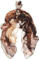 Temps des Rêves Portobello printed modal and cashmere-blend scarf