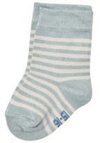 Melton Pastel Blue Uni Stripes Baby Socks