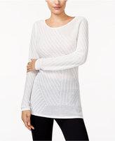Bar III Cross-Back Tunic Sweater, Created for Macy's