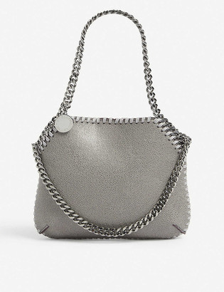 Stella McCartney Womens Grey Chain-embellished Faux-leather Shoulder bag