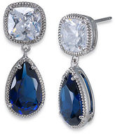Carolee Uptown Recolor Blue and Crystal Pear Drop Earrings