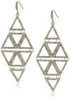"ABS by Allen Schwartz Black and White"" Pyramid Drop Earrings"