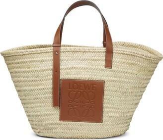 Loewe Large Woven Bucket Bag