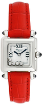 Chopard Vintage Happy Sport Square Stainless Steel & Diamond Watch, 30mm x 23mm