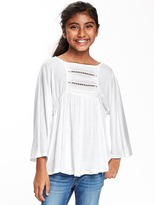 Old Navy Crochet-Yoke Swing Top for Girls