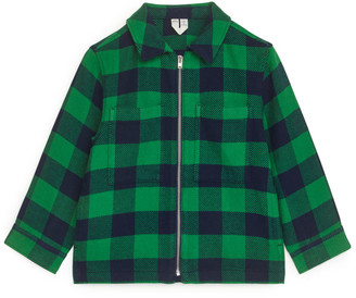 Arket Checked Zip Shirt