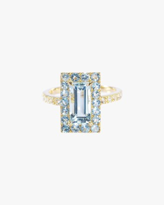Yi Collection Aquamarine Tonal Deco Ring