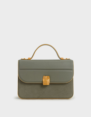 Charles & Keith Textured Hammered Buckle Bag