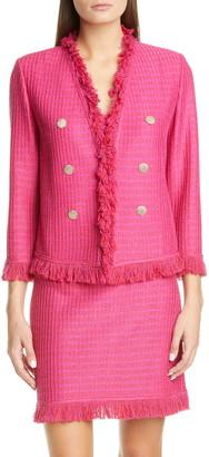 St. John Poppy Textured Knit Jacket