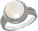 Lord & Taylor 10MM White Freshwater Pearl and Sterling Silver Ring