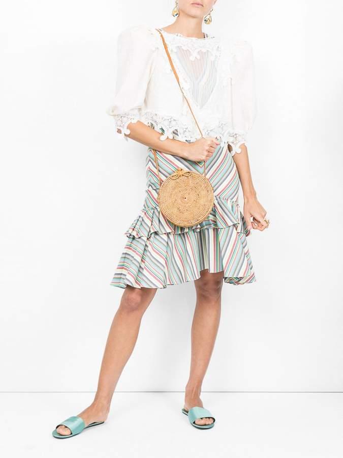 Saint Laurent Lace front yoke blouse