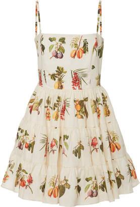 Agua Bendita Agua By Lima Enredadera Embroidered Mini Dress