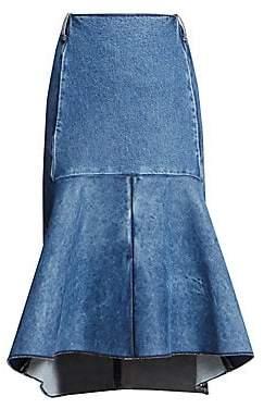 Balenciaga Women's Denim Peplum Skirt