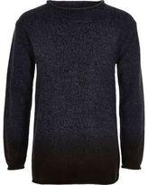 River Island Boys navy dip dye knit sweater
