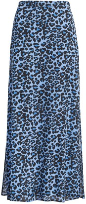 Banana Republic Leopard Maxi Skirt with Side Slits