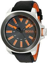 HUGO BOSS BOSS Orange Men's 1513116 New York Orange-Accented Watch