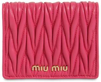 Miu Miu COMPACT QUILTED LEATHER WALLET
