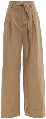 Tory Burch Cotton Poplin Wide Leg Pants