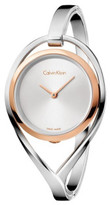Calvin Klein Light Lady Polished Ss Bangle, Rose Gold Pvd Case