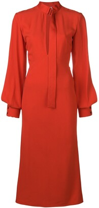 Victoria Beckham Buckled Neck Dress