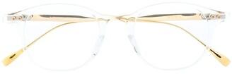 Dita Eyewear Ash clear round-frame glasses