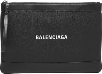 Balenciaga Navy Medium Pouch