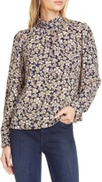 Rebecca Taylor Giselle Floral Print Long Sleeve Top