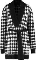 Balmain Two-tone angora-blend cardigan