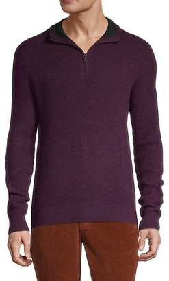 Saks Fifth Avenue Zip-Front Cashmere Sweater