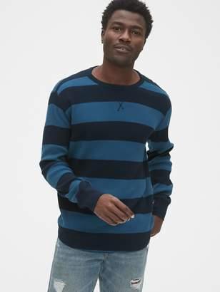 Gap Stripe Waffle T-Shirt