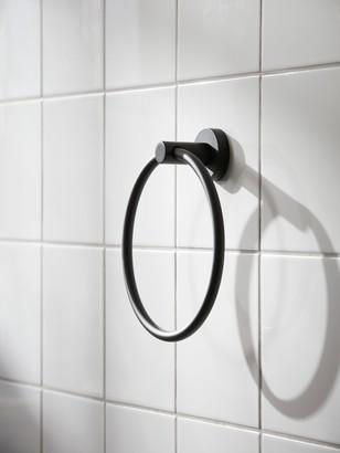Miller Bond Towel Ring, Black