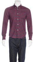 Band Of Outsiders Striped Flannel Shirt