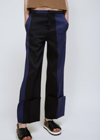 Ports 1961 blue and black colorblock stripe trouser