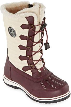 totes Womens Cleo Waterproof Winter Boots Flat Heel