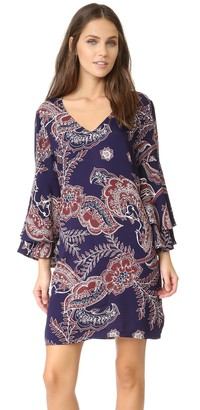 Ella Moss Women's Riya Flutter Sleeve Dress