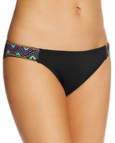 Laundry by Shelli Segal Embroidered Side Tab Bikini Bottom