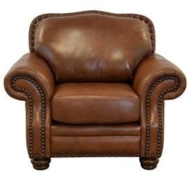 "Westland and Birch Parker 49"" W Top Grain Leather Club Chair Fabric: Burnham Oatmeal Genuine Leather"