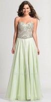 Dave and Johnny Strapless Sweetheart Beaded Prom Dress