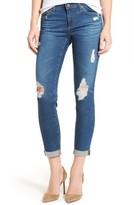 AG Jeans Women's The Stilt Distressed Roll Cuff Cigarette Leg Jeans