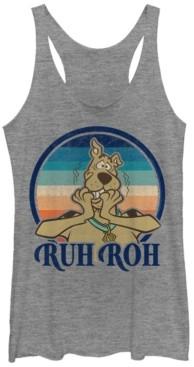 Fifth Sun Scooby-Doo Ruh Roh Sunset Tri-Blend Women's Racerback Tank