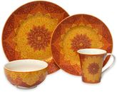 222 Fifth Kashan 16-Piece Dinnerware Set in Red
