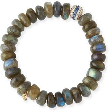 Sydney Evan 10mm Labradorite Beaded Bracelet with Blue Sapphire & Diamonds