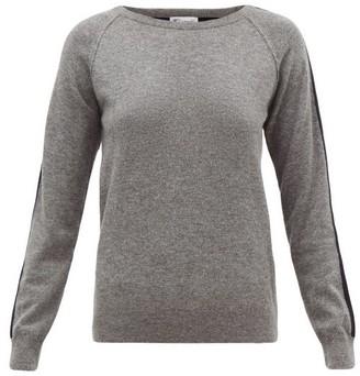 Johnstons of Elgin Johnston's Of Elgin - Lola Striped-sleeve Cashmere Sweater - Grey Multi