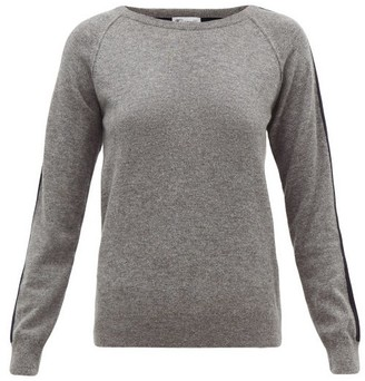 Johnstons of Elgin Johnston's Of Elgin - Lola Striped-sleeve Cashmere Sweater - Womens - Grey Multi