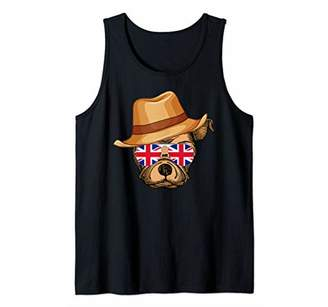 Union Jack Flag England UK Dog British Britain Womens Gift Tank Top