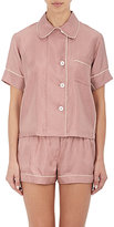 Araks Women's Shelby Polka-Dot-Print Satin Pajama Top